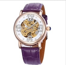 fashion design high quality visible movement automatic mechanical watch for men