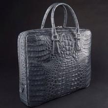 Italy Men 100% Crocodile Genuine pure Leather Business Handbags