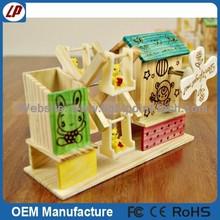 Best choose wooden music box Mediterranean style Windmill music box gift