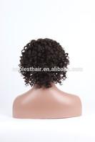 8inch short human hair Cheap candy curl natural color 100% remy human hair wig