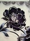 LYB25 flower design polyester burnout printed bronzed velvet sofa upholstery fabric