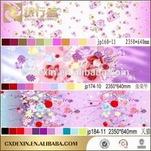 SHINING FLOWER DESIGN SOFT HAND FINISHING MAKE OF BRUSHED POONGEE 100%POLYESTER FABRICS