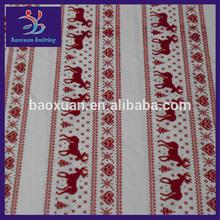 100 polyester knit christmas fleece fabric