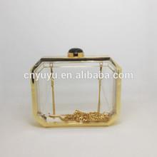 YUYU Luxury glass material clear clutch