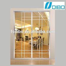 Modern design Double Glass electrophoresis slide door for residential