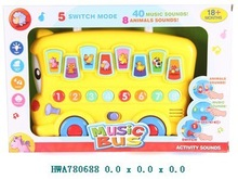 Baby Toy,B/O Musical Cartoon Car Toy,Educational Toy Musical Bus