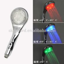 Autromatic sensor de temperatura da água e não/desligar led chuveiro cabeça
