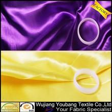 Shiny polyester satin drapery fabric for wedding decoration