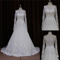 Stylish french lace fleecy backless paris bridal wedding dress