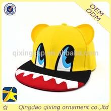 custom 6 panel baby snapback hats fashion embroidery brim 6 panel children snapback cap/Imitate animal snapback cap