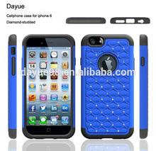 Shinning rhinestone cheap plastic cell phone case