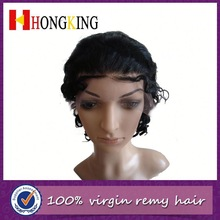 Fashionable Indian Human Hair Front Lace Wig Made In China