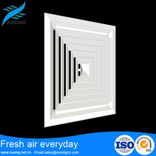 hvac system supply 4 way aluminum square aluminum air ceiling diffuser