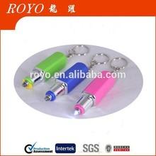 873 shining lipstick plastic pen with LED light