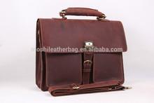 Antique Genuine Leather Portfolio Briefcase