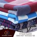 popular clássica blous em tecido de algodão