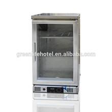 greenlife one door stainless steel beverage mini display cooler