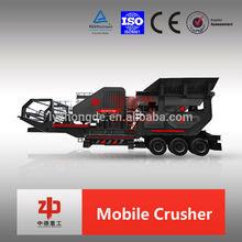 HX coarse crushing series wheel mobile crushing station, Mobile impact stone crusher with high crushing ratio