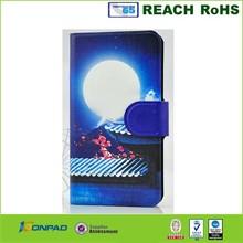 Rock line design PU leather folio stand mobile phone case for Nokia Lumia 1320 case