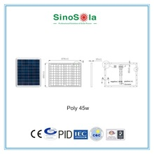 poly silicon solar modules 45W Solar Panel Kit for home use kits ,camping with TUV/PID/CEC/CQC/IEC/CE