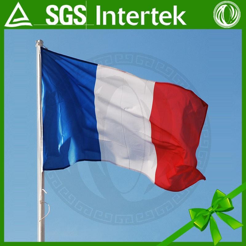 2015โปรโมชั่นที่กำหนดเองการพิมพ์สีขาวสีแดงสีฟ้าขายส่งธงฝรั่งเศส150