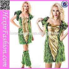 2015 fashion hot sale green animal cosplay women halloween costume