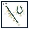 femmes tissu chaîne pearl bracelet fleur clés