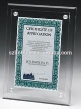 Acrylic certification block display photo frame