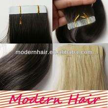 cheap brazilian human hair straight 50g PU skin weft Tape hair straight 2.5g/pcs( 20pcs/set)