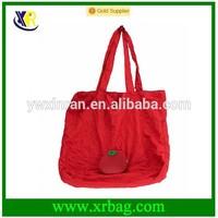 polyester vegetable tomato shaped folding handle shopping bag