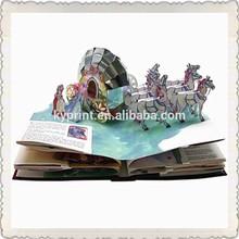 Custom Wholesale Baby Color comic book printing/pop up book printing