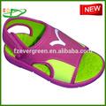 2015 novo design menina eva sapato sandália, fuxia