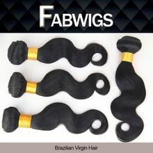 "Fabwigs Grade 5A 8-30"" Korean Glue Double Wefted Unprocessed Body Wave Virgin Remy Brazilian Human Hair"