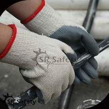 SRSAFETY 10G 2 yarn cotton liner latex coated glove work safe glove