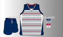 2015 Norns Custom Basketball Uniform Sublimated 100%polyester Basketball jersey