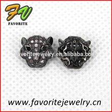 cat head gun black rhinestone setting charm accessory