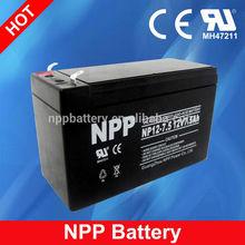 12V 7.5AH Maintenance Free Storage Lead Acid AGM UPS 12V Light Weight Battery Packs