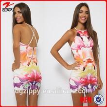 delgada correas ajustables de hawai vestidos para las mujeres