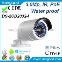 3.0MP economic fixed lens water proof IR PoE supported hikvision camaras de seguridad
