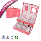 hot selling made in China leather cosmetic case bag big lots jewelry box