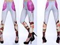 Envío shipmentWholesale de moda 2013 mujeres Leggins Galaxy impresión Digital pantalones feliz navidad de las polainas para mujeres S117 -