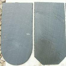 round edge black slate roof tiles
