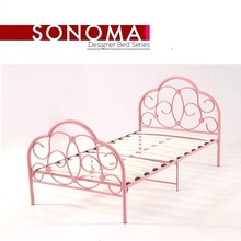 Metal Twin Size Pink Girls Bed Frame bedroom furniture