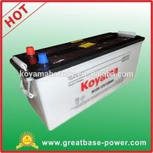 JIS standard heavy duty vehicle battery dry cell rechargeable battery (62033) N120 -120ah, 12V