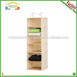 hot sales fashion 6-Shelf Hanging Closet Organizers