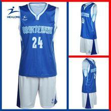 Healong Sublimation Transfer Hot Sale Camouflage Basketball Jersey