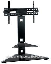 glass VESA lift mechanism with shelves