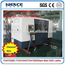 Highest speed automatic cnc lathe slant bed type TCK7536cnc horizontal turning center