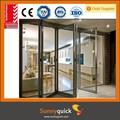 esterno impermeabile porta a vetri in alluminio pieghevole