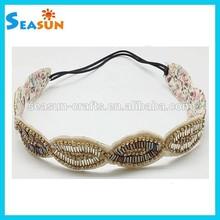 OEM/ODM Fashion Crystal Headband Ladies Women Bridal Hair Accessory Soft Elastic Hair Band